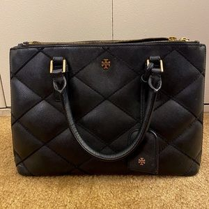 Tory Burch Small Robinson Stitched Double Zip Tote
